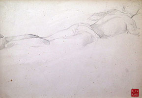 Reclining Male Figure, Facing Away