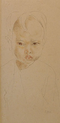 Portrait of a Pouting Child