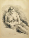 Seated, Draped Female Nude