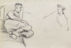 A Soldier in Bed; Study of a Soldier's Head